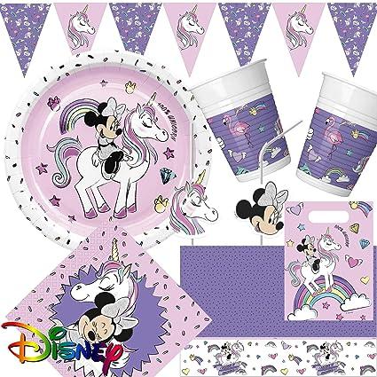 Juego de fiesta de 96 piezas * Minnie Mouse & unicornio ...