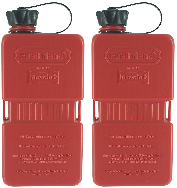 FuelFriend® -Plus 1, 5 Liter - Klein-Benzinkanister Mini-Reservekanister im Doppelpack - im Doppelpack hünersdorff 2FFP15