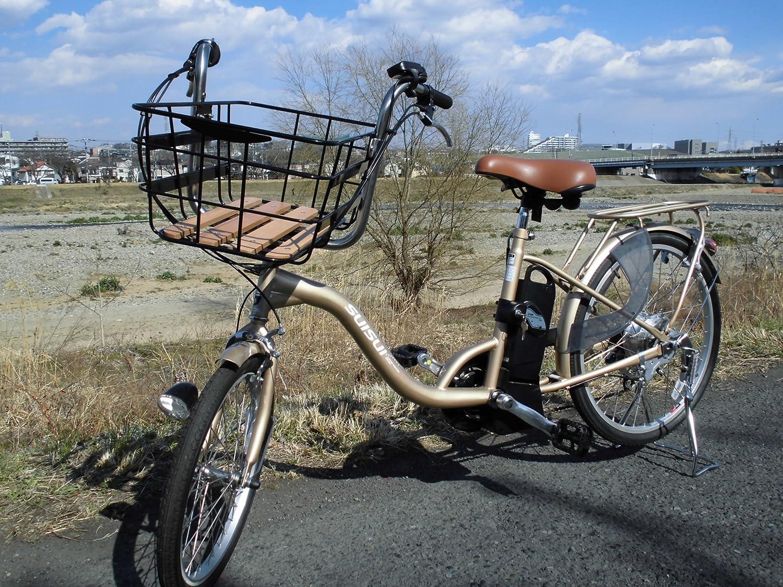 SUISUI 低床電動アシスト自転車 | KH-DCY07 ビッグバスケットタイプ B06XKTDX4C シャンパンゴールド シャンパンゴールド