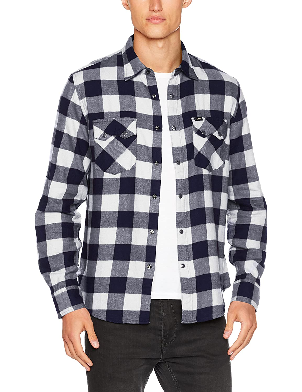 TALLA L. Lee Rider Shirt Camisa para Hombre