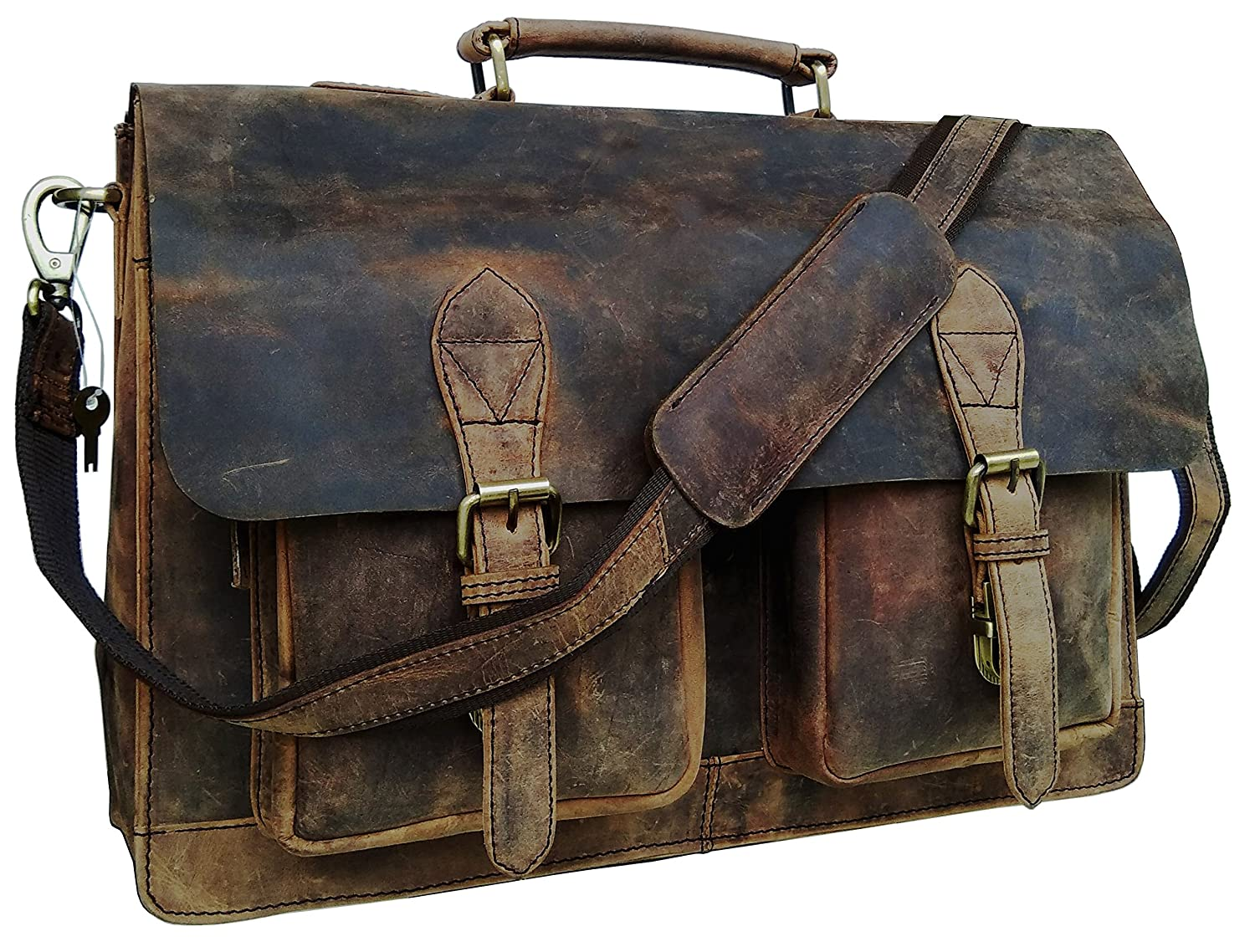 Cuero 15 Inch Retro Buffalo Hunter Leather Laptop Messenger Bag Office Briefcase College Bag LYSB01N1RW80H-OFFSUPPLIES