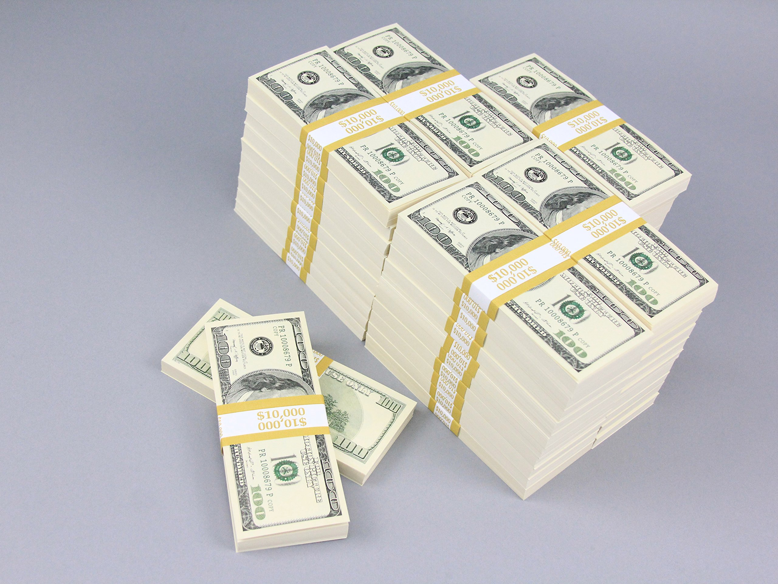 PROP MONEY Real Looking Copy $100s Pack - BLANK FILLERS Total $500,000 for Movie, TV, Videos, Advertising & Novelty