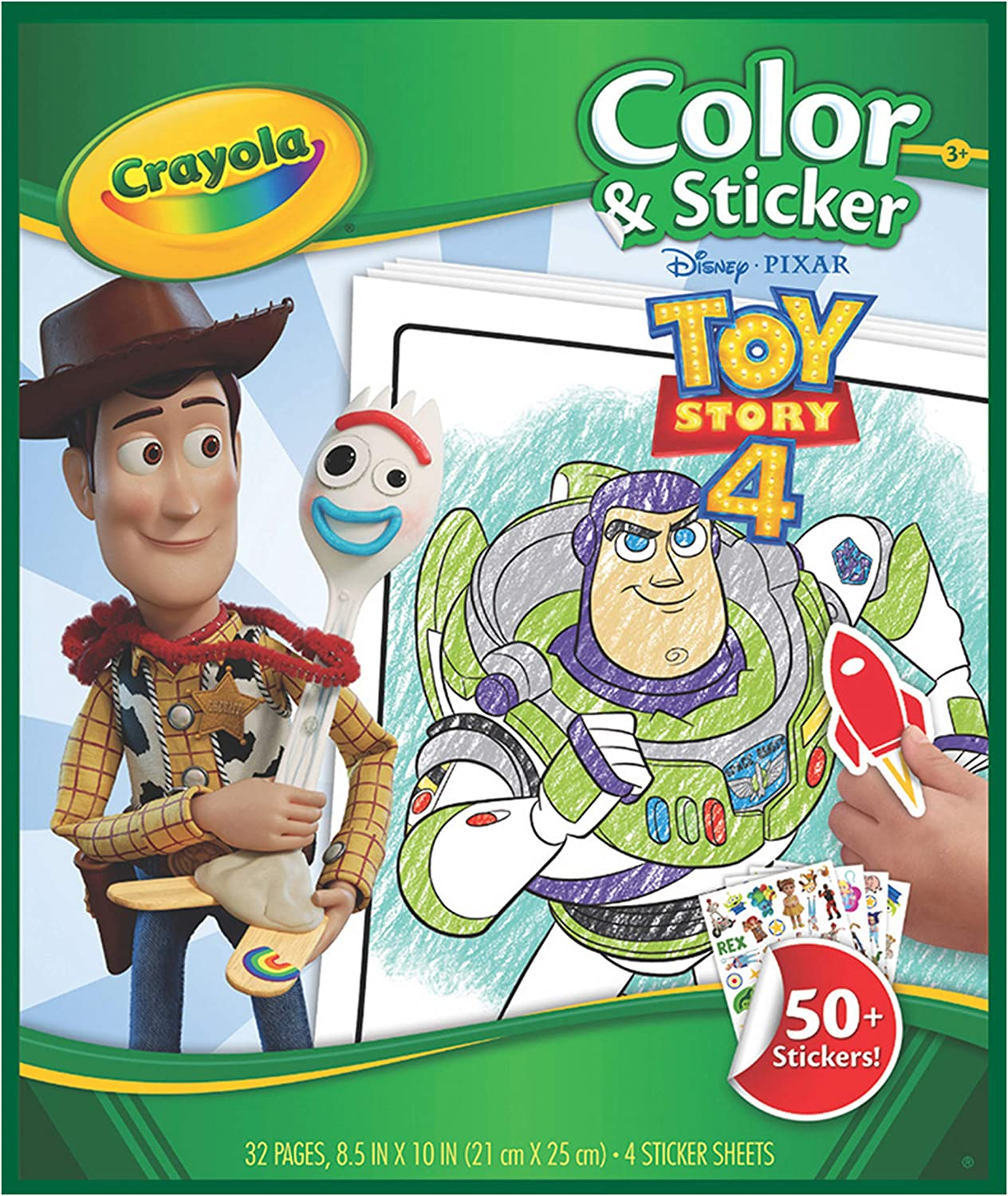 Amazon Com Crayola Toy Story 4 Coloring Pages Stickers Kids At Home Activities Gift For Kids Age 3 4 5 6 7 Toys Games