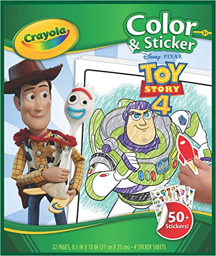 Amazon.com: Crayola Toy Story 4 Coloring Pages & Stickers, Kids At Home  Activities, Gift For Kids, Age 3, 4, 5, 6, 7: Toys & Games
