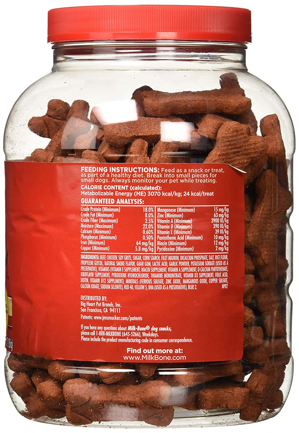 Milk-Bone Soft Chewy Beef Filet Mignon Recipe Dog Snacks 37 oz.