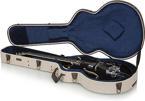 Gator Cases GW-JM-335 - Funda para guitarra, Tipo Gibson 335, Beige: Amazon.es: Instrumentos musicales