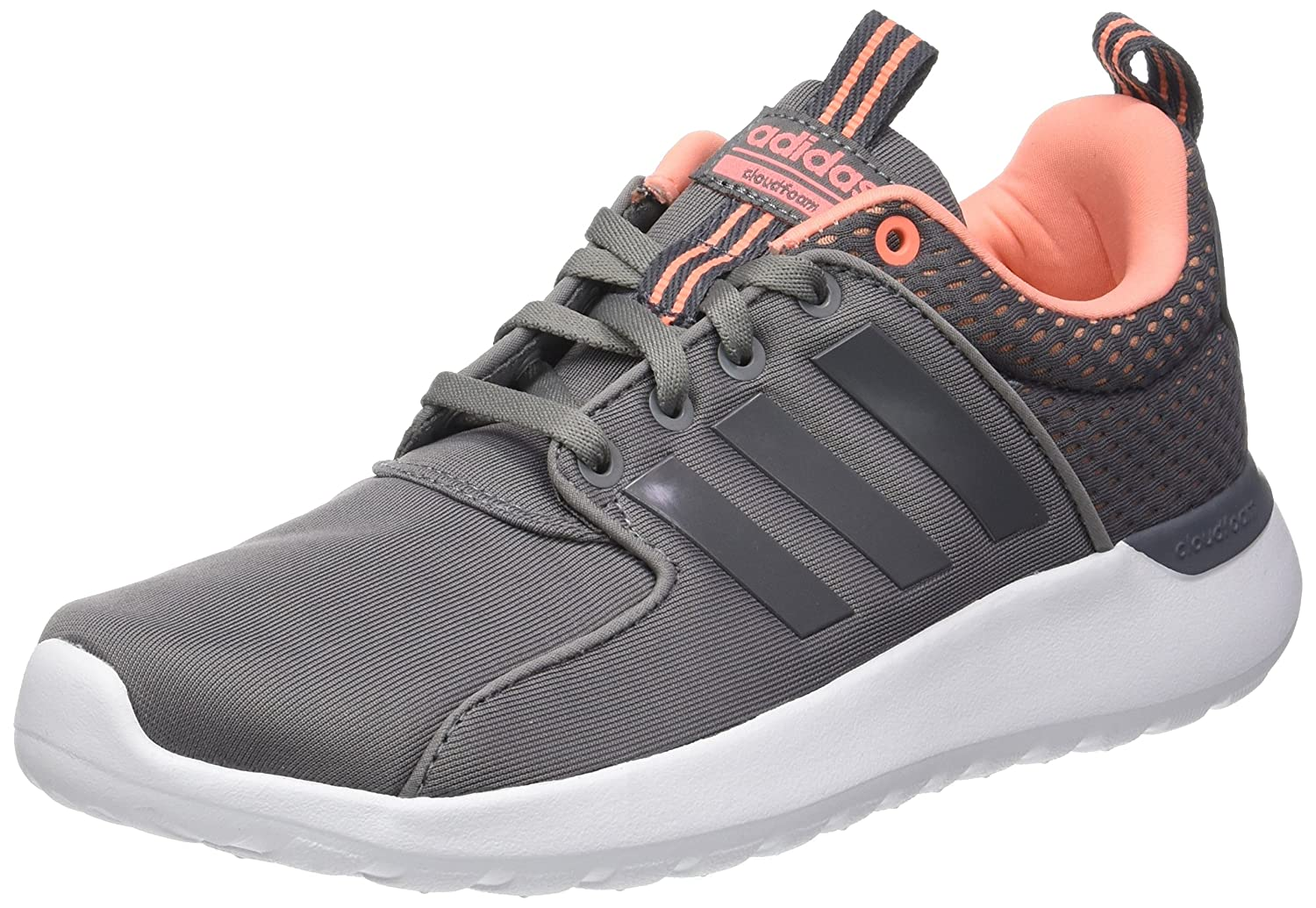 adidas Damen CF Lite Racer Sneaker  40 2/3 EU|Grau (Grey Three/Grey Three/Sun Glow)