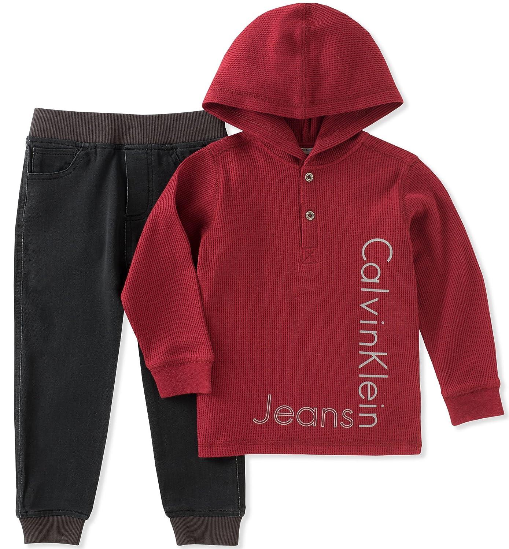 Calvin Klein Boys\' Thermal Hoodie Sets