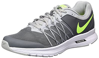 b7c05850ef8 Image Unavailable. Image not available for. Color  Nike New Men s Air  Relentless 6 Running Shoe Dark Grey Volt 9