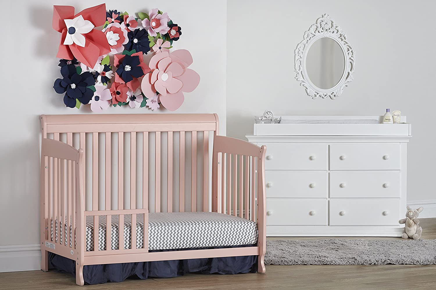 Suite Bebe Riley 4 in 1 Convertible Crib Coral