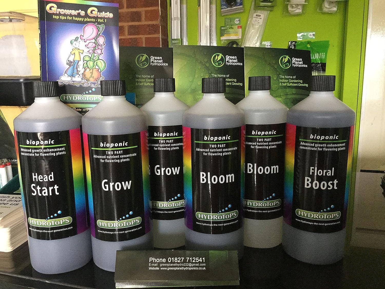 hydrotops Hydro Set X 4Produkte, Head Start 1L, Grow a & B 1L, Bloom A & B 1L, Floral Boost 1L RRP £80