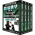 Diary of a Teenage Minecraft Zombie Villager BOX SET - 4 Book Collection 1 : Unofficial Minecraft Books for Kids, Teens, & Ne
