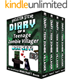 Diary of a Teenage Minecraft Zombie Villager BOX SET - 4 Book Collection 1 : Unofficial Minecraft Books for Kids, Teens…