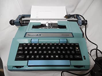 Coronet XL Coronamatic azul Vintage eléctrico máquina de escribir modelo 6e