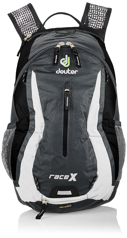 Deuter Unisex-Erwachsene Rucksack Race X, 44 x 24 x 18 cm, 12 liters granite-weiß 3212341110 DEUT7 #Deuter