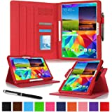 "roocase Samsung Galaxy Tab S 10.5 Case - Dual View Multi-Angle Stand 10.5-Inch 10.5"" Tablet Cover - RED"