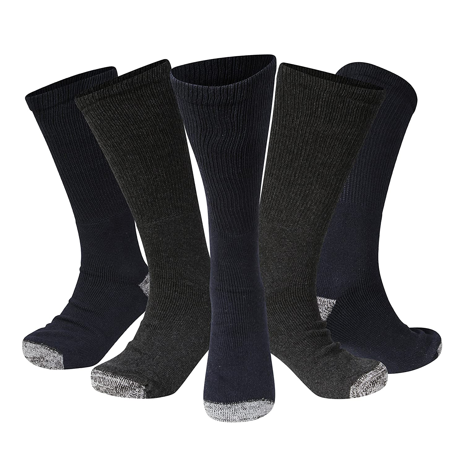 3 pack Kensington LONG MEN's SAFETY BOOT WORK SOCKS for Steel toe cap boots GENUINELY TOUGH THICK HEAVY DUTY QUALITY Hard wearing dry hot & cold weather cotton cushioned soled, motorcycle base layer Durable Versatile Reliable Outdoors