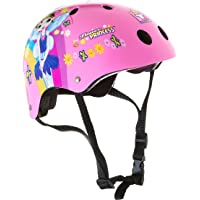Titan Flower Princess - Casco para monopatín y BMX (11 ventilaciones, Talla pequeña), Color Rosa