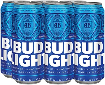 Bud Light, 6 Pk, 16 Oz Cans, 4.2% ABV