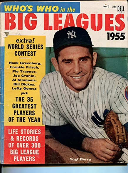 Whos Who In The Big Leagues #2 1955-Dell-Yogi Berra-info