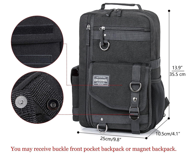 Canvas Messenger Bag for Men Laptop Sling Backpack Cross Body Shoulder Travel Rucksack