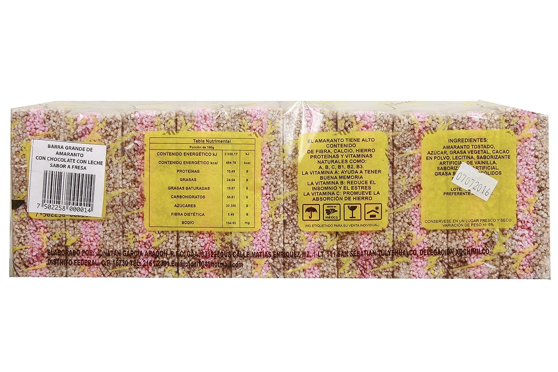 Milk Chocolate Strawberry Flavored Amaranth Bars (52g, 10pcs): Amazon.com: Grocery & Gourmet Food