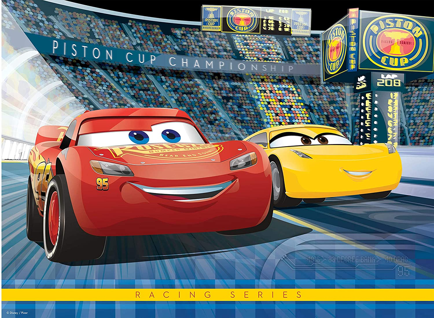 Ravensburger Disney: Cars 3 - 100 Piece Jigsaw Puzzle for Kids – Every Piece is Unique, Pieces Fit Together Perfectly 10851