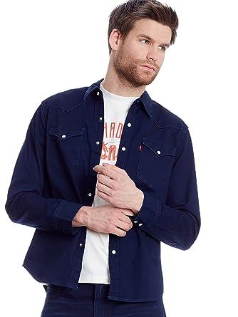Denim Shirt L S Barstow Std Western Double Denim Dark Levi S Xl Men