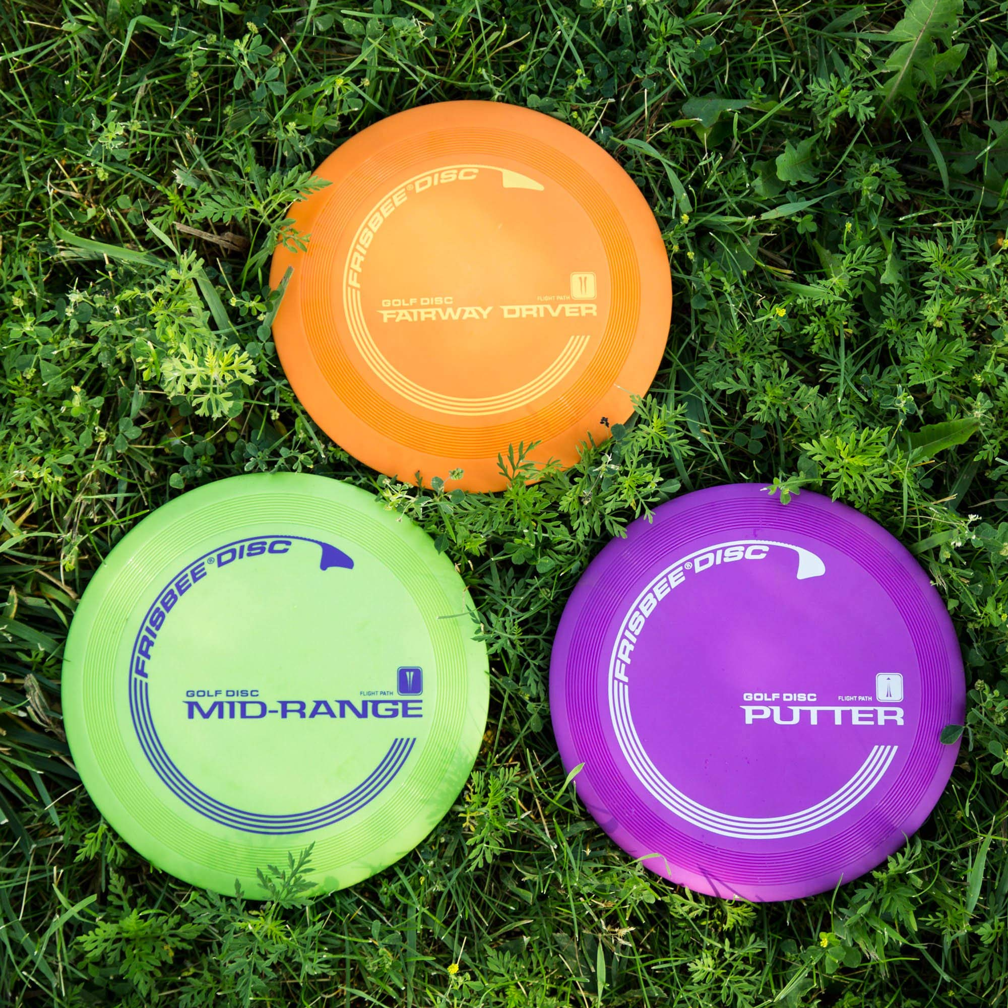 Wham-O Official Frisbee Disc Golf Set with 3 Discs and Blue Target (3)