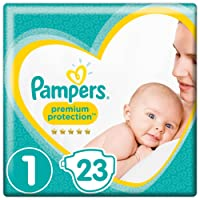 Pampers Premium Protection New Baby Gr.1 Newborn 2-5kg Tragepack, 4er Pack (4 x 23 Stück)