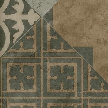 Fliesenoptik Retro diagonal grau beige Vinylboden PVC Bodenbelag 300 und 400 cm Breite 200 Variante: 4,5 x 3m Meterware