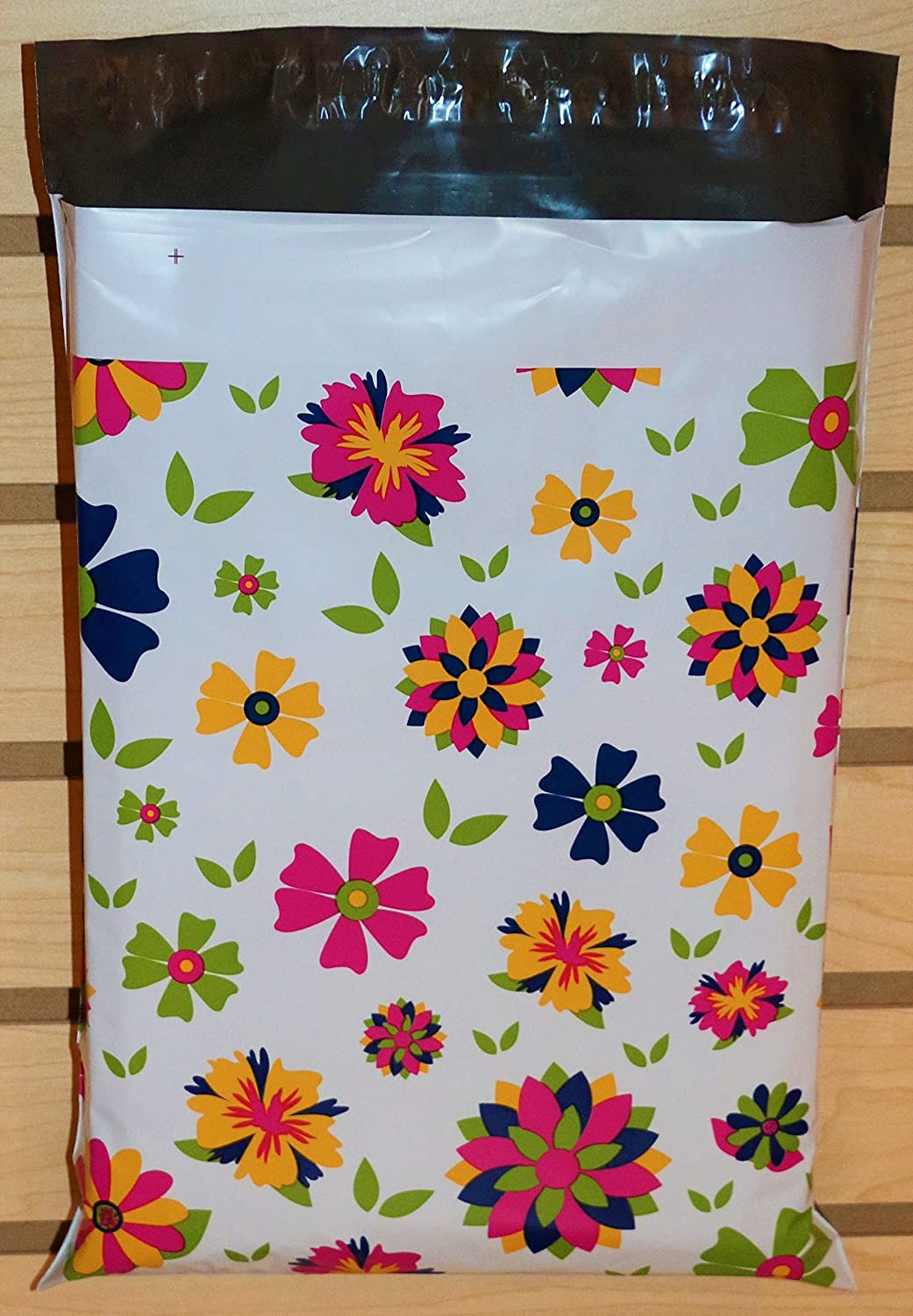 50 10x13 Botanical Blooming Flower Poly Mailer Custom Shipping Boutique Bags