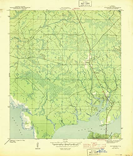 Topographic Map Of Florida.Amazon Com Florida Maps 1944 Southport Fl Usgs Historical