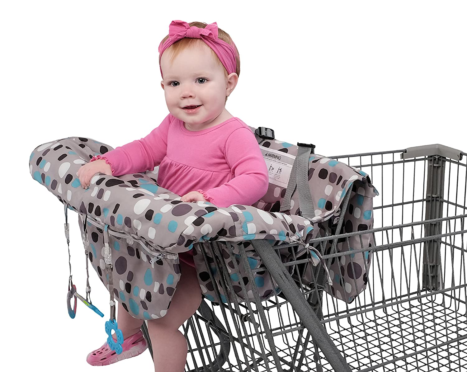 Babyezz 2-in-1 Shopping Cart & High Chair Cover for Baby- Machine Washable with carrying pouch