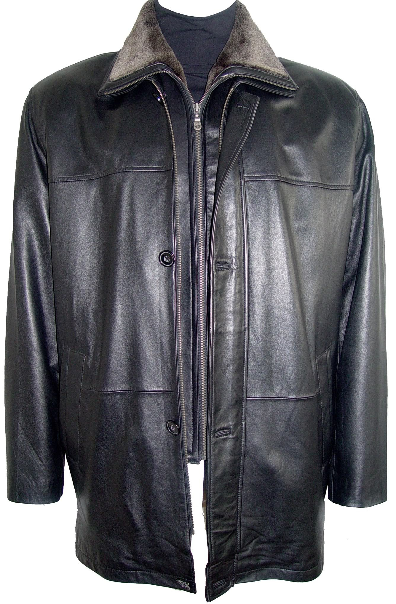 Paccilo 2001 Big Man Leather Jacket Business Clothing Coat Tall and All Size