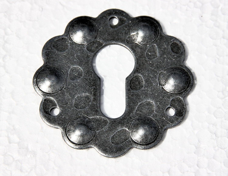 UHRIG /® 2 St/ück PZ Schloss Rosette geschmiedet aus Stahl #520