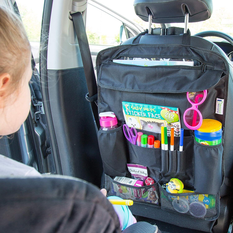 Car Seat Organizer Car Seat Storage. Backseat Car Organizer Back Seat Protector Car Back seat Organizer Car Storage Organizer With 12 Compartments and a Hidden Tablet Holder Used As Kick Mat