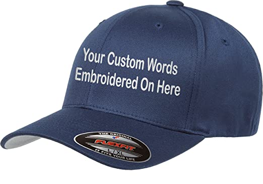 d3991adff85be Custom Hat Flexfit 6277 6533 Delta   More Embroidered. Your Own Text ...