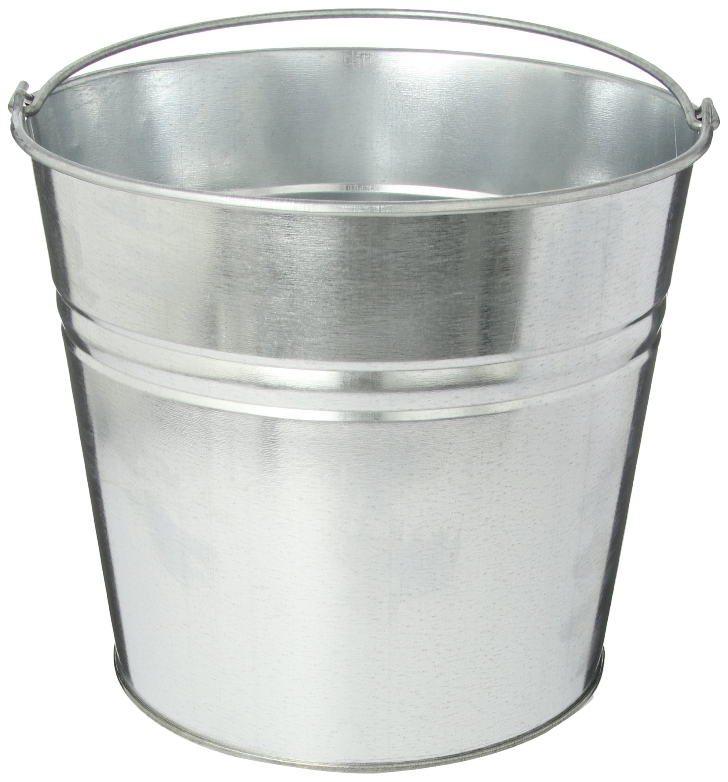 Impact 414 24 Gauge Steel Galvanized Utility Pail, 14 qt Capacity, 11-1/8'' Height (Case of 6)