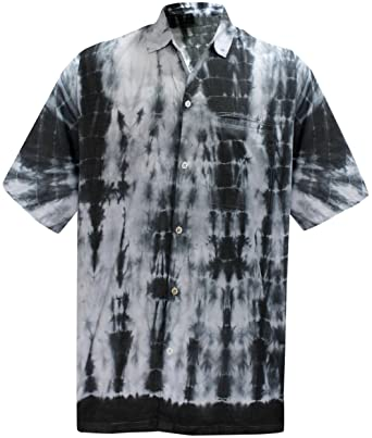 1ef82314 La Leela Aloha Hawaiian Tropical Beach Solid Plain Mens Casual Short  Sleeves Button Down Tropical Shirts