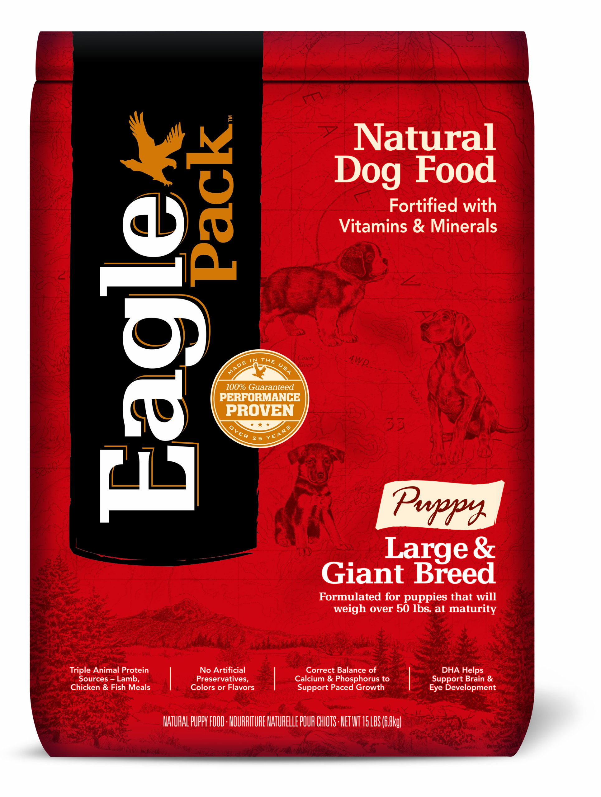 Eagle Pack Natural Pet Food, Large and Giant Breed Puppy Formula, 15-Pound Bag