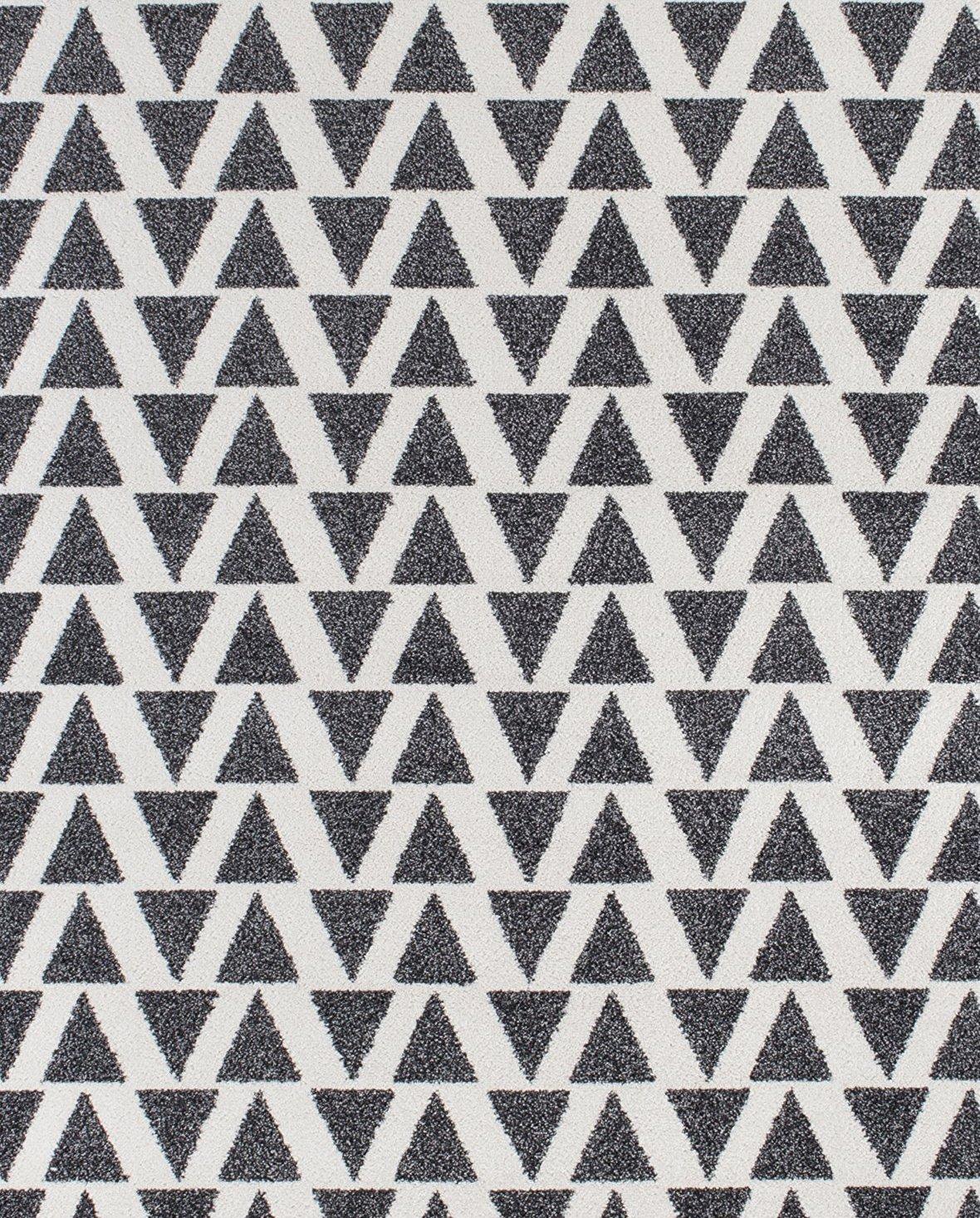 Andiamo Kurzflor Web Isos Teppich, Teppich, Teppich, Polypropylen, Creme grau, 133.0 x 190.0 x 1.5 cm 639b0e