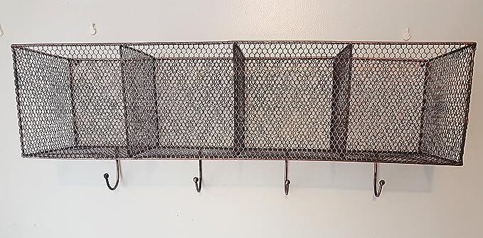 16.5cm 25.5 12 Schwimmender Regal Wand B/ücherregal Kleiderhaken Garderobenhaken Metall Baffect 1 PCS Wandregale mit 4 Haken Schwarz S