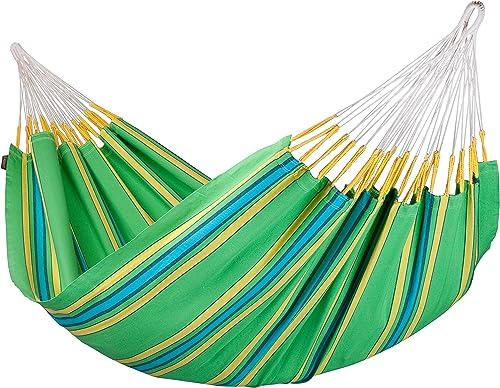 LA SIESTA Currambera Kiwi – Cotton Double Classic Hammock