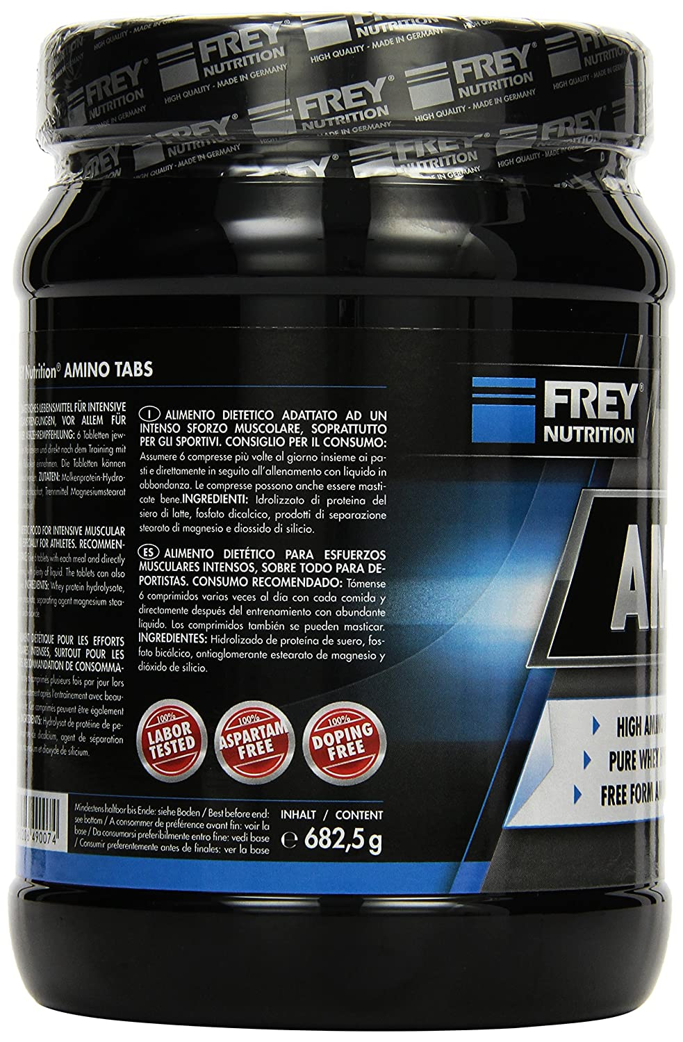 Amazon.com: Frey Nutrition Amino Tabs 1x 682.5 g by Frey Nutrition: Health & Personal Care
