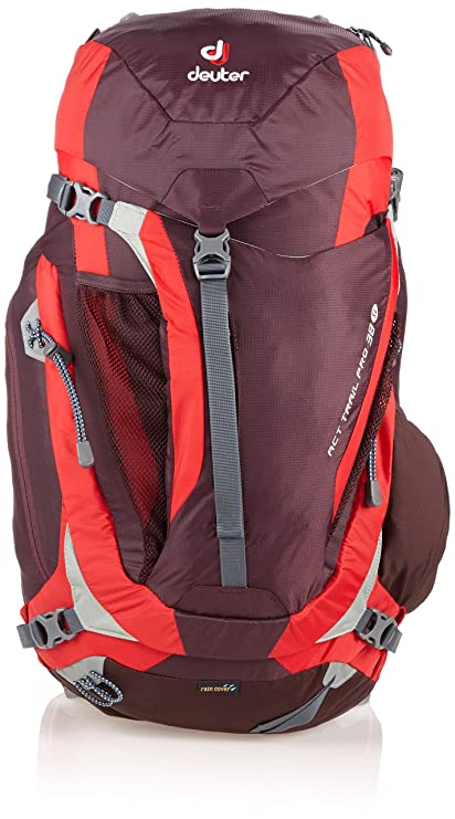 Deuter Act Trail Pro 38 SL Mochila, Unisex Adulto, Rojo (Aubergine/Fire