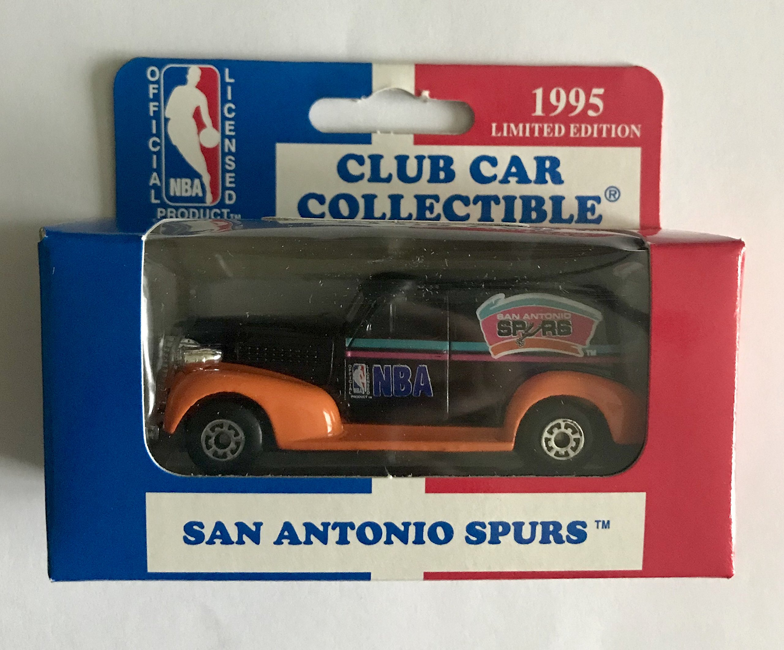 1995 Matchbox 1:64 Scale Model '39 Chevy Club Car Collectible SAN ANTONIO SPURS