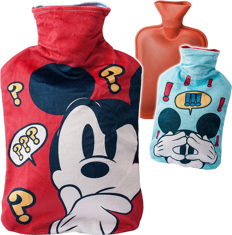 alles-meine.de GmbH gro/ße XL Mickey Mouse W/ärmekissen Heizkissen 0,75 Liter Wasser W/ärmflasch.. Kinderw/ärmflasche mit extra weichen Pl/üsch Bezug Disney W/ärmeflasche