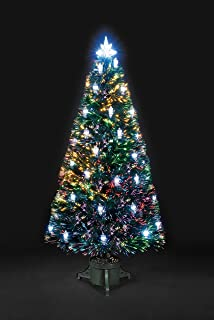 parcel in the attic 90 cm fibre optic victorian artificial christmas tree with led lanterns