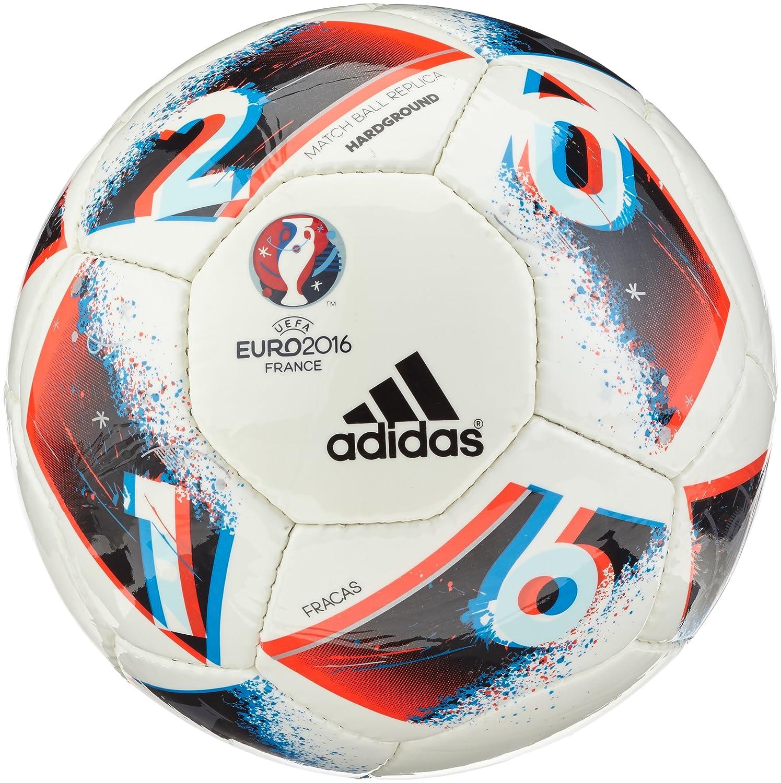 adidas Euro16 Hrdgrnd Balón de fútbol, Hombre, (Blanco/Azubri ...